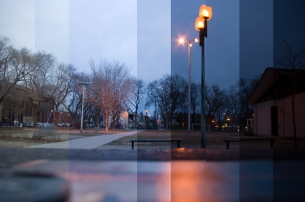 Un parc au crépuscule -© Olivier Grondin - 2013